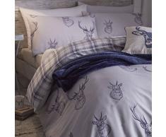 Catherine Lansfield CL Stags Navy - Juego de funda nórdica para cama de 90 cm