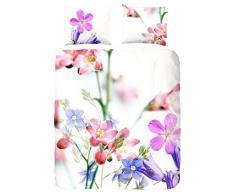 Descanso para cama de matrimonio algodón 100 por ciento/de funda de edredón y de raso de flores violetas, Multi-color