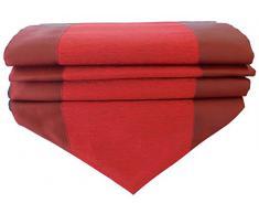 by soljo - rojo mesa de mantel de lino camino de mesa corredor seda tailandesa dos colores Elegante 150 cm de largo x 30 cm