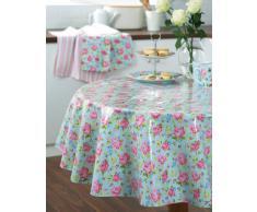 Cooksmart - Mantel redondo cubierto de PVC, modelo Vintage Floral