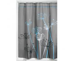 InterDesign - Thistle - Cortina para ducha, 180 x 200 cm, Gris/Azul