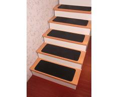 Alfombra de la escalera alfombras Yinbei - banda de rodadura antideslizante 100% algodón en alfombra alfombras 65,02 cm x 24,89 cm-