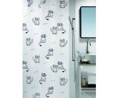 Spirella colección Gary, Cortina de Ducha Textil 180 x 200, 100% Polyester, Gris, Multicolor, 180 cm x 200 cm