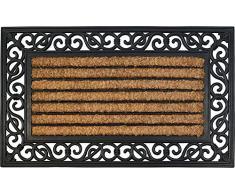 ID mate 4575 Coral 85016 rectangular natural alfombra Felpudo fibra coco/caucho Beige 75 x 45 x 1,8 cm)