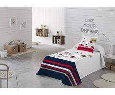 NATURALS Colcha Multipunto infantil LOVE DOG cama para entretiempo (Cama 105)