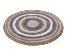 Meusch 2253271307 Mandala - Alfombra circular (60 cm de diámetro), color marrón