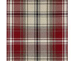 """Manta cubre sofá de tela escocesa, aspecto de lana, color rojo, 130 x 200 cm De la gama """"Angus"""" de McAlister"""