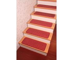 Patrón de onda Yinbei poliéster antideslizante almohadilla de paso de la escalera de la alfombra pisadas de alfombra lavable - 65,02 cm x 24,89 cm