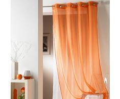 Style Decor 144.MAN Tulipe - Cortina con ojales, 140 x 240 cm, color naranja
