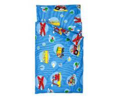 Kindertraum 520853085331 - Juego de cama infantil, diseño de vehículos, 40/60 y 100/135 cm 583