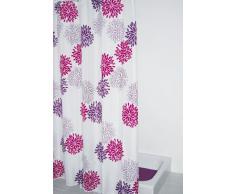 Ridder 403060 Sandra - Cortina de ducha de tela (180 x 200 cm), color blanco y violeta