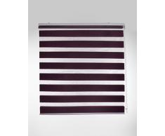 Blindecor Lira Estor Enrollable de Doble Capa, Noche y Día, Poliéster, Violeta, 100 x 180 cm (ancho x largo)