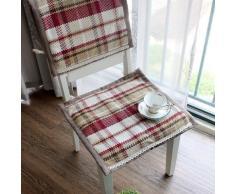 EFRC Todo algodón temporadas tejer el asiento de la silla cubre comedor silla Cojín amortiguador correas cojín de silla de oficina puede ser máquina lavada ,3