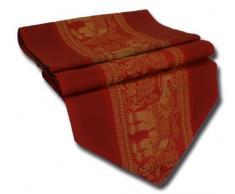 by soljo - rojo mesa de mantel de lino camino de mesa corredor seda tailandesa elefante Elegante 150 cm de largo x 30 cm