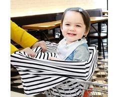 YOOFOSS Multiusos Lactancia Materna - Elástico Toldo del Carrito de Compra, Cubierta de Asiento de Bebé Coche, Bufanda, Cubierta de Silla Alta de Algodón