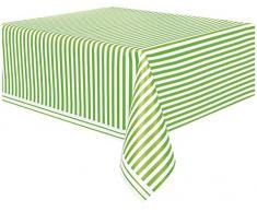 Mantel de Plástico con Rayas Verde Lima (84)