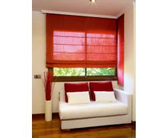 Estor plegable con varillas 180x175cm - Color Fresa