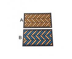Felpudo de fibra de coco - Modelo zigzag (70x40x1 cm) - B