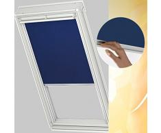 Velux DKL - Estor para VL Y21 en plástico color azul 2055/UNI Premium con rieles de aluminio páginas/los rieles Y21 2055s - También válido para Vu/VKU - Tamaño Y21