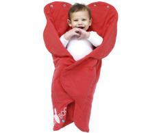 Wallaboo Fleur - Manta para bebé muy práctica y ultra suave, 85 x 85 cm, 100% algodón, color rojo