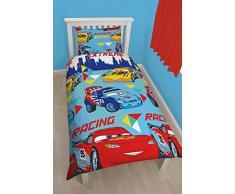 Cars - Set de cama de funda de edredón de coches azul - 1272