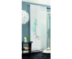 Home Fashion 87211-701 Calais - Cortina (245 x 60 cm), diseño de Flores, Color Blanco