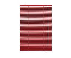 Gardinia Jalousie 10007319 - Persiana (aluminio, 100 x 175 cm, láminas de 25 mm), color rojo
