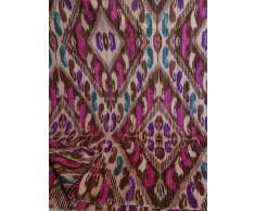 Tribal Asian Textiles Multicolor Paisley Ikat Imprimir Kantha Queen Size Edredón, manta Kantha, cubierta de cama, Kantha Colcha, Bohemia Bedding Kantha Tamaño 90 pulgadas x 108 pulgadas 11114