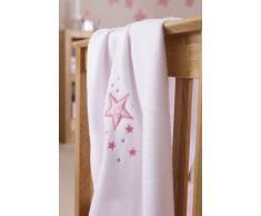 Clair de Lune - Manta para bebé (forro polar), diseño de estrellas, color rosa
