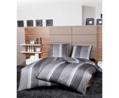 Se puede combinar con la ropa de cama Monza 3797, Fb, 08 de plata de colour gris grafito, Mako-satén, 100% algodón, 08 silber graphit, 155 x 220 cm