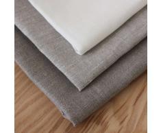 2 toallas de cocina 50x70 cm 100% lino natural gris