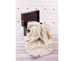 Manta de 100% pura lana Merina 550gsm, 140/100cm Cálido y Natural Certificada por Woolmark. Muy suave y confortable.