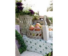 Clayre & Eef FAO45P de agarradores de cocina de tela de serie con diseño de flores de todo tipo de ensayo, 20 x 20 cm, Rosa