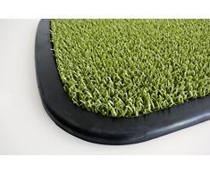 AstroTurf Utopia Quadro Felpudo Alfombra de Entrada Exterior, 50 x 75 cm, Color Verde Manzana, Goma & Polietileno, 75x50x1 cm