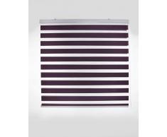 Blindecor Vela - Estor enrollable doble tejido, noche y día, color violeta, 120 x 180 cm