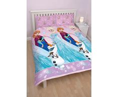 Character World Disney Frozen Magic - Juego de ropa de cama, multicolor