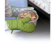 Rayen 6159.10 - Guantes de cocina, color naranja/verde