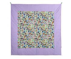 Bien! Mamá, Manta / alfombra gatear para interior y exterior, cuadrado, Multicolor (Gelb / Quadratisch), 140 x 140 cm