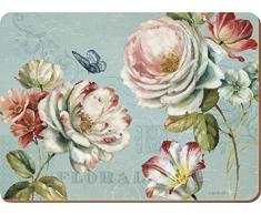 "Creative Tops ""Romantic garden de Juego de 6 manteles individuales (corcho, Azul, 6"