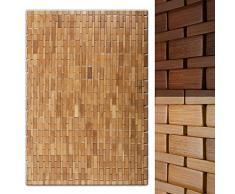 casa pura Alfombra de bambú MIA - Alfombra de Sauna | Tapete de baño Natural | 60x90cm | Fácil de Lavar | 2 Colores (Natural)
