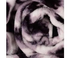 Just Contempo - Manta para sofá y cama, piel de imitación de visón, piel sintética, leopardo, blanco, crema, gris, cama individual