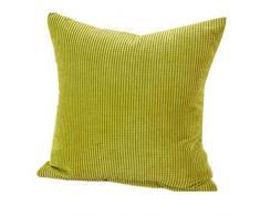Fundas De Cojines,Xinantime Almohada decorativa de la pana de algodón Cojín Multicolor (Verde)