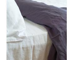 LinenMe 230 x 275 cm - Sábana (lino), color blanco
