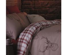 Catherine Lansfield Stags - Juego de funda nórdica para cama, tamano 160X220 cm + 50X110 cm
