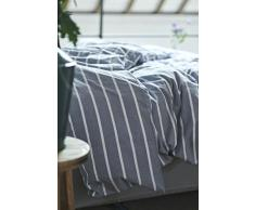 Esprit satén ropa de cama Elli I color Blue Azul I azul rayas I Maritime cama I de puro algodón I cremallera, azul, 155x220+80x80