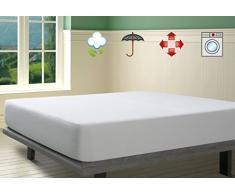 Savel Protector de colchón rizo impermeable 135 cm blanco