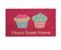Novelty Home Sweet Home - Felpudo (fibra de coco y PVC, 40 x 70cm), diseño de cupcakes