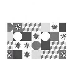 Laroom Alfombra, Vinylic Flooring PVC-Antislip, Negro y Gris