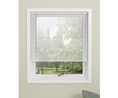 Debel Persiana Veneciana De twist, 100 x 130 cm, aluminio color plateado, Blanco, 100 x 160 cm
