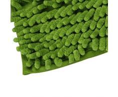 Alfombra de bano - TOOGOO(R)Soft Shaggy antideslizante absorbente Alfombra de bano Bano Ducha estera 40*60cm (verde)